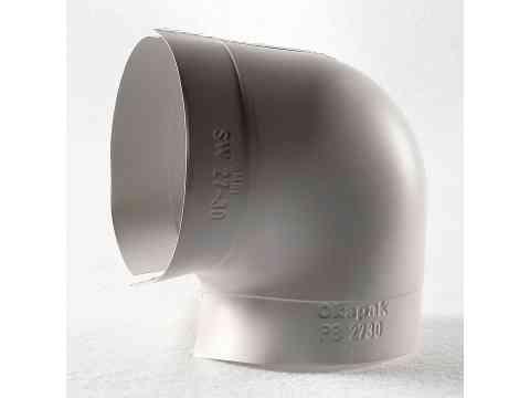 PVC Bogen 90 Grad hellgrau SE schwerentflammbar