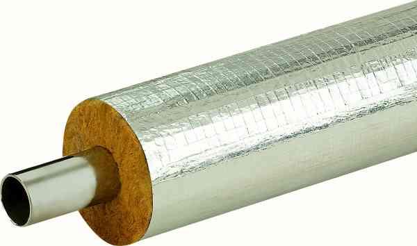 Isolier-Rohrschale Steinwolle mit Alu-Gitterummantelung 0.040 W/mK